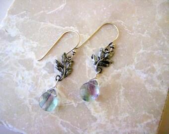 Sterling Silver and Fluorite Earrings - On Sale