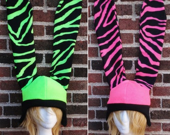 Tiger Bunny Fleece Hat - Fleece Hat Adult, Teen, Kid - A winter, nerdy, geekery gift!