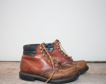 40% off Sale 7 H | Men's Distressed Red Wing Moc Toe Work Boots