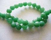 Jade Beads Gemstone Light Green Round 8MM