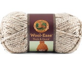 Lion Brand Wool Ease - Thick and Quick in Oatmeal, Chunky Yarn, Thick Yarn, Super Chunky Yarn, Bulky Yarn, Super Bulky Yarn, Wool Yarn