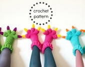 Monster Slippers CROCHET PATTERN PDF, Kids Womens Mens Adult Crochet Slippers Pattern, Monsters Inc Costume Sulley Bigfoot Dragon Amigurumi