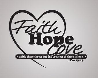 1 Corinthians 13:13 Scripture Wall Decal