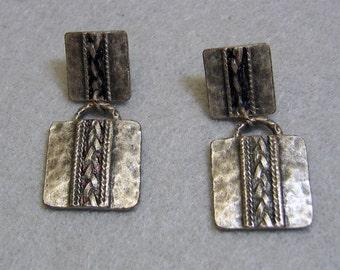 Southwestern Pierced Earrings, Post Style, Dangles
