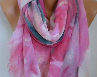 Pastel Tones Cotton Scarf Soft Shawl bohemian Scarf, Summer Cowl Oversized Wrap Gift Ideas For Her Women Fashion Accessories