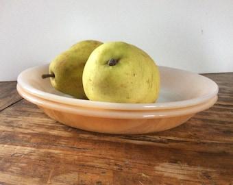 Vintage Pie Plates Peach Lusterware  Fire King Pie Plates