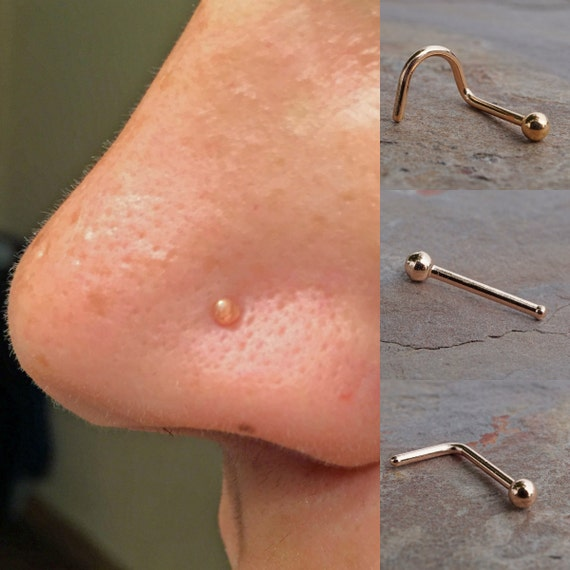 simple 14kt gold nose ring boho nose ring