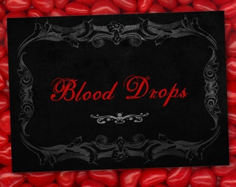 Vampire Halloween Party Labels - INSTANT DOWNLOAD - Editable & Printable Party Decorations by Sassaby Parties