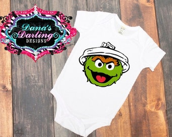 oscar the grouch shirt - sesame street shirts - customs for kids - sesame street oscar - oscar t shirt -  sesame street character tee