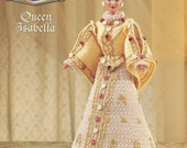 "The Royal Court Collection - Queen Isabella - Annie's Attic Crochet Pattern Leaflet for 11 1/2"" Fashion Doll New Condition"