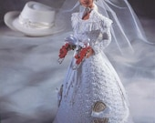 "The Bridal Belle Collection - Miss July - Annie's Attic Crochet Pattern Leaflet for 11 1/2"" Fashion Doll New Condition"
