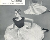 Vintage - Fashions by Morell Cruise and Resort Vol 7 - 7 Crochet Patterns - Can Can - Circular and  Swirl Skirts Cape Stole plus 3 Blouses