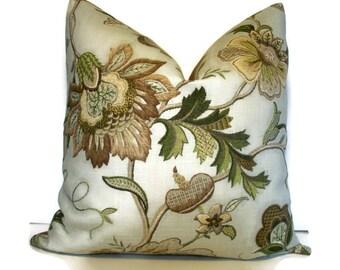 P Kaufmann Brissac Platinum Floral Linen Pillow Cover P Kaufmann Pillow Floral Pillow 1-18, alotm