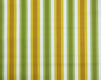 Retro Wallpaper by the Yard 70s Vintage Wallpaper - 1970s Gold and Green Vinyl Stripe