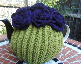 Hand Knitted FlowerTea Cosy