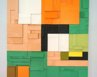 Wood Mosaic Painting - Modern Moment