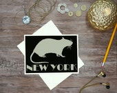 NEW YORK rat- Vermins of NY note card greeting card thank you note friends christmas card special occasion love you thinking of you holiday
