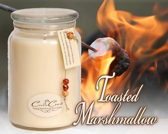NEW~Toasted Marshmallow - Fall Candles - Scented Candles- Soy Candles -Eco Friendly - 100% Soy Wax