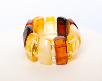 New genuine Baltic Amber ring, size 9 adjustable (4)