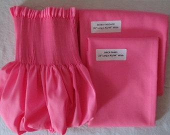 Ready to Smock & Sew-Girls Dress Kit-Carnation Pink-Cotton-Smocking-Size 1-4
