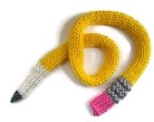 PENCIL Scarf - teacher gift - funny scarf - unisex scarf - back-to-school