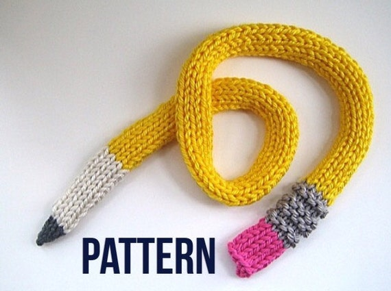 Knitting Pattern For Pencil Scarf : Pencil Scarf pattern Instant Download PDF Knit PATTERN for