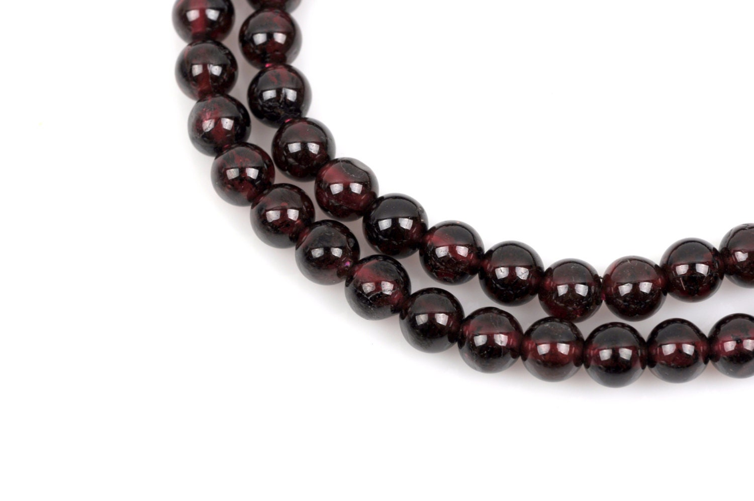 4mm Dark Red GARNET Round Gemstone Beads full strand gga0002