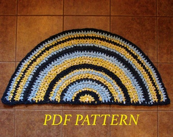 Half Moon Rag Rug - PDF Pattern
