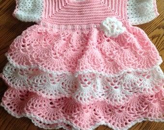 New beautiful crocheted layered dress 2T