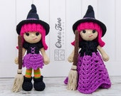 Combo Pack - Willow the Witch Lovey and Amigurumi Set for 5.99 Dollars - PDF Crochet Pattern - Instant Download - Special Offer Pack