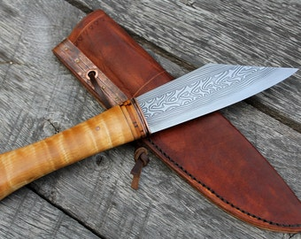 Hand Forged Pattern Welded Seax