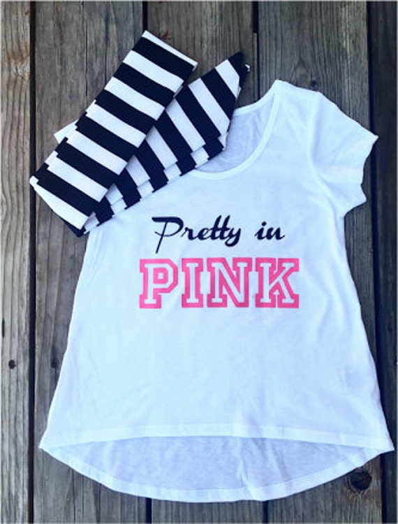 PRETTY IN PINK Tee - baby, toddler, child, adult, woman, girl, fashion, shirt. mommy and me, mini me, mean girls, wednesday, graphic tee