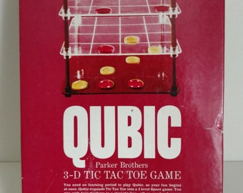 1965 Qubic Parker Brothers  - 3D Tic Tac Toe Game