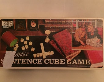 1971 Vintage Scrabble Sentence Cube Game