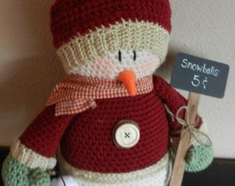 Country/Primitive Stuffed Snowman Decor