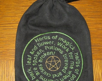 Gathering bag - magical herbs, trinkets or .....FREE SHIPPING (U.S. Domestic only)