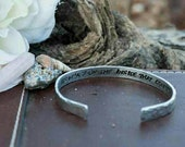 It's What's On The Inside That Counts - Stamped Bracelet