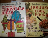 Treasury of Christmas Ideas, 1966, Holiday Cookbook 1959, Better Homes and Gardens Books