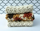 Wash Cloths Crochet Face Cloths Dish Cloth Set Ready to Ship