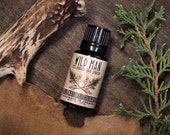 Wild Man Cologne Oil - Unisex Natural Perfume with Cedar and Lime 15ml // .5oz For Him