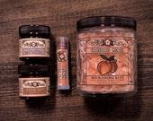 Spa Gift Set HOMESTEAD Collection - Bath Salts, Muscle Rub, Hand Cream, Lip Tint