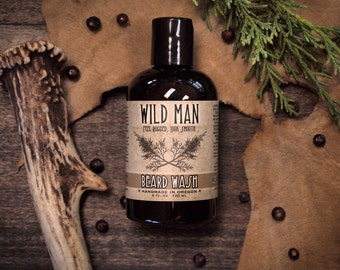 Beard Wash Soap Wild Man THE ORIGINAL Grooming Gift For Dad - 120ml // 4oz
