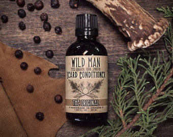 Beard Oil Conditioner Wild Man THE ORIGINAL 50ml // 1.69oz - Mens Grooming Gift
