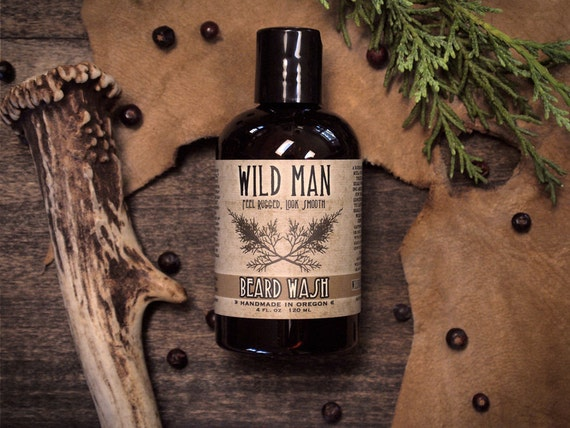 Beard Wash Soap Wild Man THE ORIGINAL Grooming - 120ml // 4oz Dad