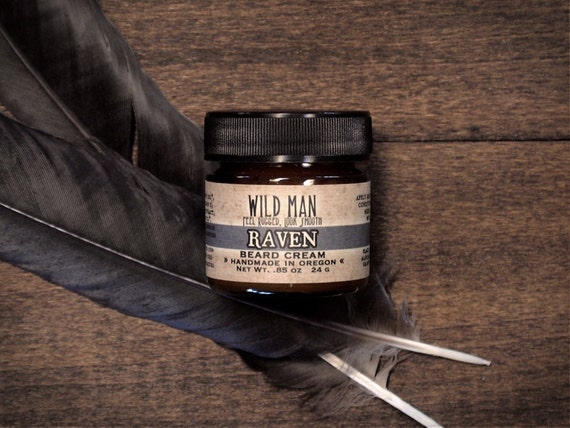 beard balm cream wild man raven 24g 85oz grooming. Black Bedroom Furniture Sets. Home Design Ideas