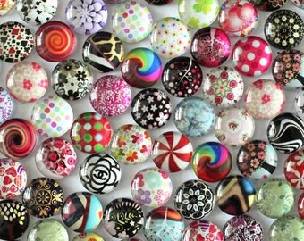 50 pcs 10mm Round Glass Cabochon Dome for Pendant