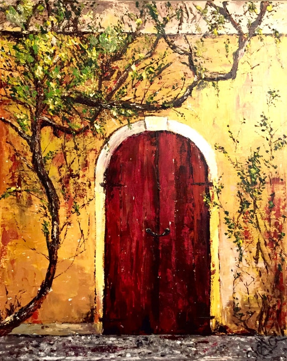 """DREAMS COME TRUE - Original palette knife acrylic painting 24""""x30"""", free shipping"""