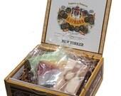 Men's Soap Set - Cigar Box Gift - 3 Bars, H. Upman Collection