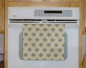 Grey Kitchen Hand Towel - Curtis Grey & Yellow Decorative Kitchen Towel