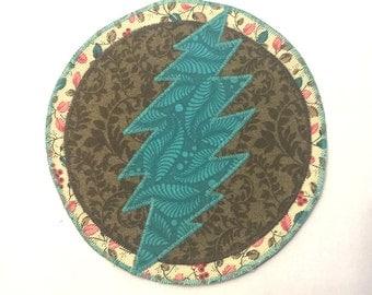 Grateful Dead Bolt Circle Patch